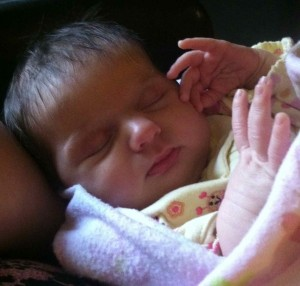 A look of contentment that I never saw on Cori Lou in the hospital