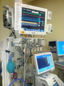 Here is what some of the post operative monitors look like.