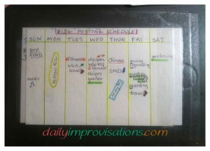 My  extremely simple desk top blog editorial calendar.