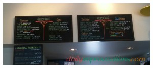 Some of the choices at the AeroCaffe internet coffee shop in Boise.