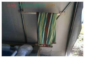 """My PVC pipe towel rack in <a href=""""http://dailyimprovisations.com/indoor-outdoor-swimming-pool-project-video-overview/"""" target=""""_blank"""">my indoor/outdoor swimming pool area</a> has already come in handy several times.  :-)"""