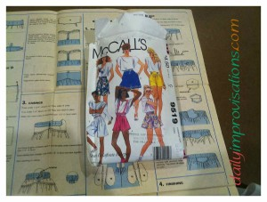 I purchased this pattern over 25 years ago for $4.50. McCalls number 9519, misses size shorts used as a split skirt.