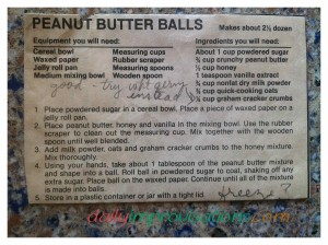 The original newspaper clipping recipe from about 25 years ago.