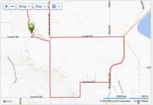 Shamrock Shuffle 2014 Garmin map