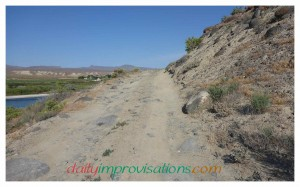 Here is a section of road with not too many boulders. Imagine these spaced much more closely and sticking up more, with the path twisting and narrow, and you can get an idea of some of the other sections.