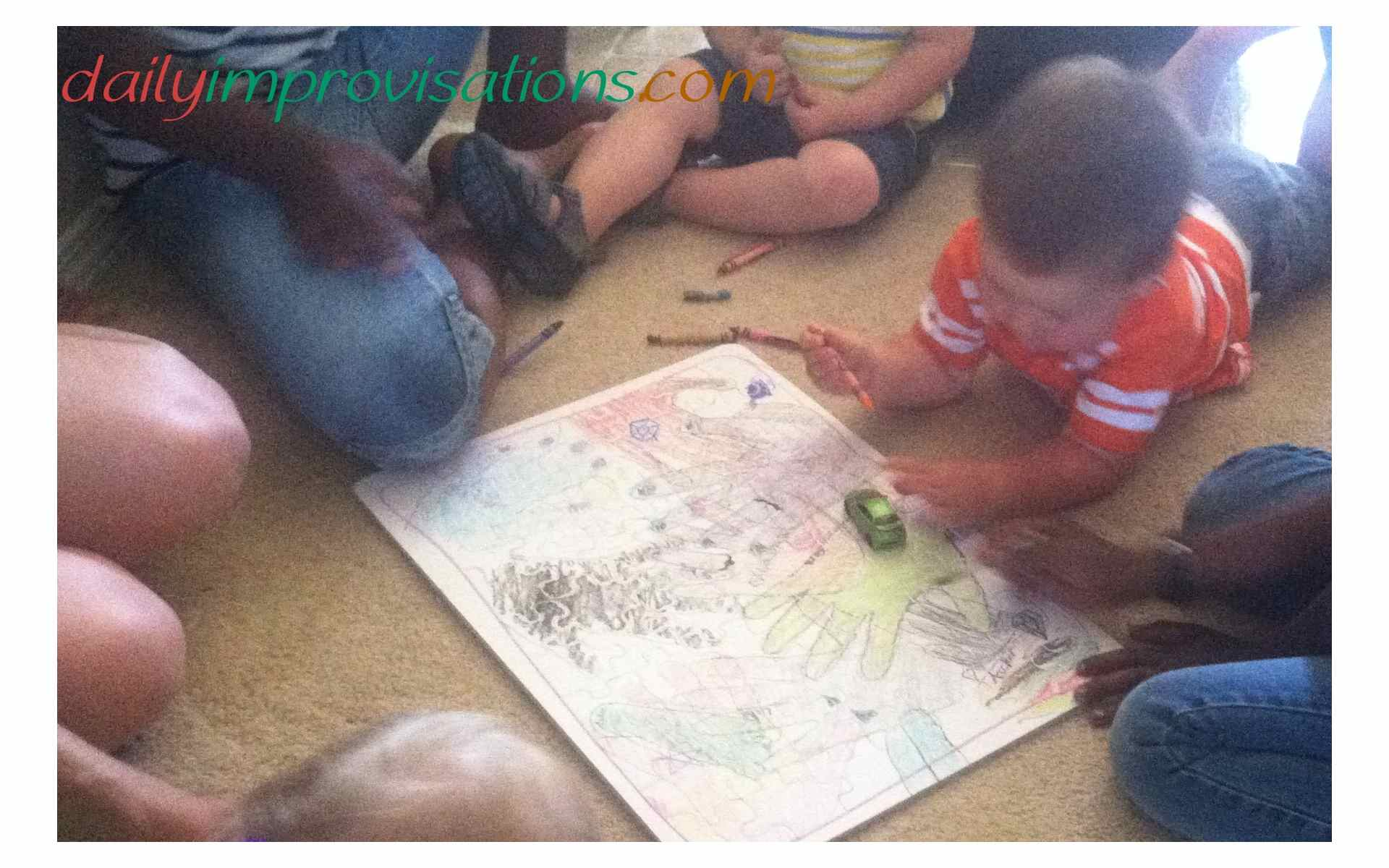 DIY Handprint Jigsaw Puzzle for Easy Kids Party Craft