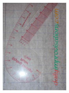 Here is the ruler than I used to help me draw the curves.
