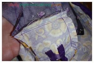 and sewn.