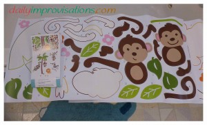 The jungle decal pieces came on 3 sheets and were numbered for easy identification in placing.