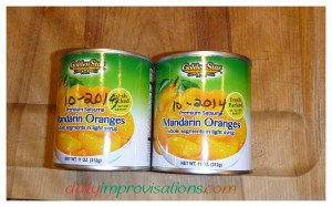 My two cans of Mandarin oranges are dated with the month and year of when I purchased them. This helps me immensely to keep rotating items in my pantry.