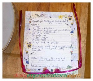 Here is the family sized buttermilk pancake recipe that I used as a base for the yogurt recipe today.