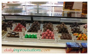 Just a small part of the display in the Godiva chocolate shop.