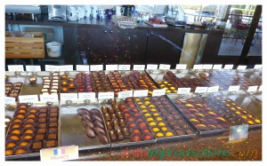 A close up of their chocolates