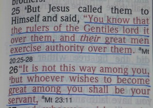These verses in Matthew are some of many that speak of the level brotherhood of all followers of Jesus Christ.