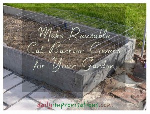 Don't let cats deter you from gardening - try these simple covers to deter them from doing damage.
