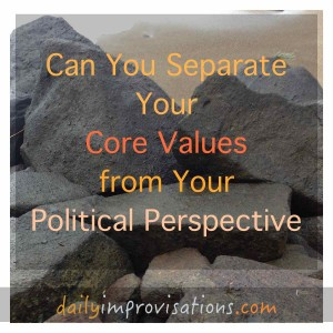 What core values do you base your political perspective on?