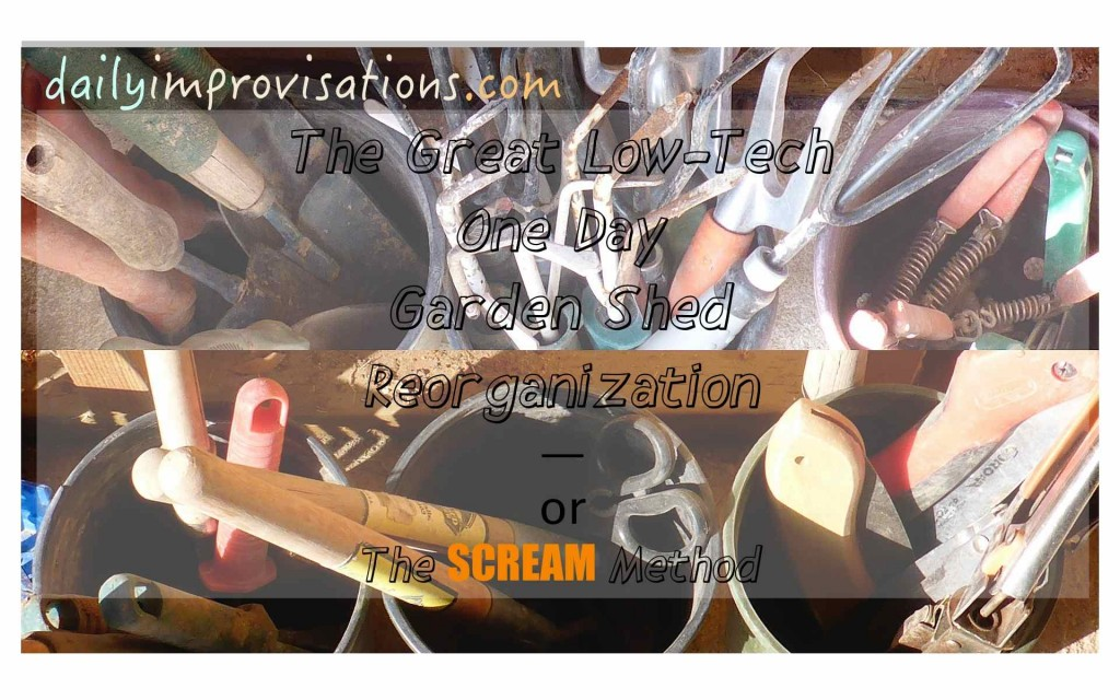 The Great Low Tech One Day Garden Shed Reorganization or the SCREAM Method