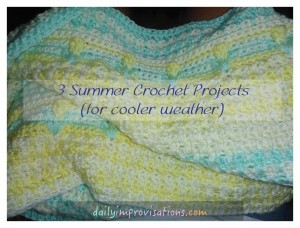 3 summer crochet projects - baby afghan