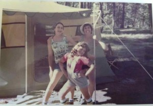 From left to right, Laura, Alice, and their mom circa 1976