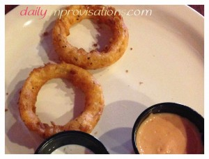 We were nearly done with the onion rings before I thought about a photo -