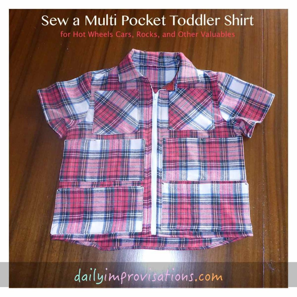 Sew a Multi Pocket Toddler Shirt