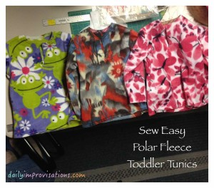 Sew Easy Polar Fleece Toddler Tunics