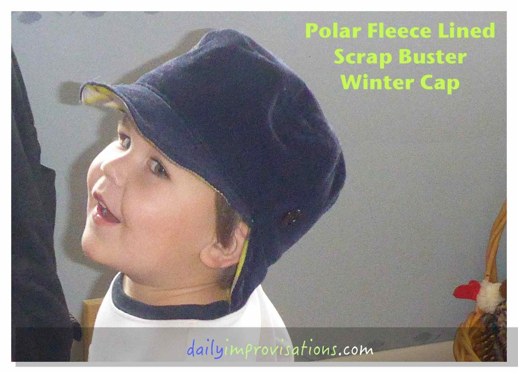 Polar Fleece Lined Scrap Buster Winter Cap