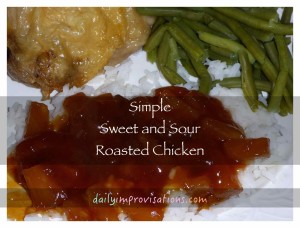 sweet sour sauce on rice