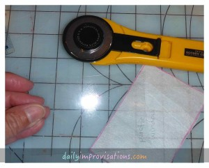 Cutting the plastic was fast and easy with the rotary cutter.