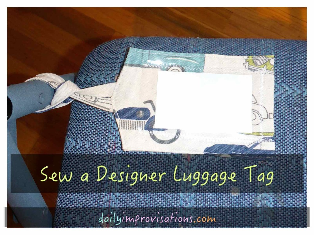 Sew a Designer Luggage Tag