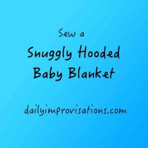 Snuggly Hooded Baby Blanket title photo