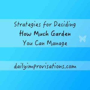 Strategies for Deciding How Much Garden You Can Manage