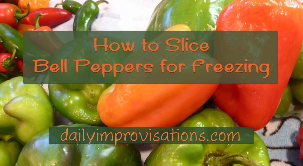 How to Slice Bell Peppers for Freezing