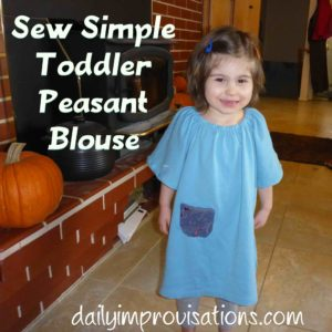 Sew Simple Toddler Peasant Blouse