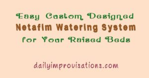Easy Custom Designed Netafim Watering System for Your Raised Beds
