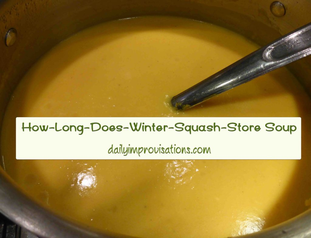 How Long Does Winter Squash Store Soup