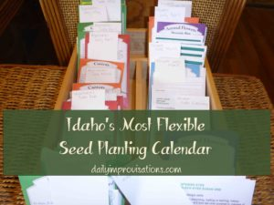 planting box schedule