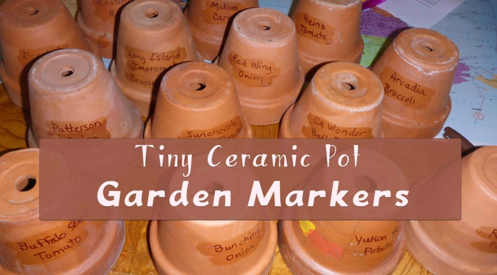 Tiny Ceramic Pot Garden Markers