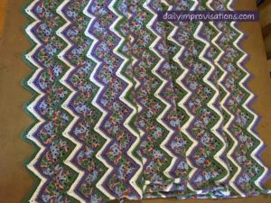 Natalie's zigzag blanket done