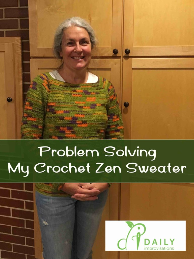 Problem Solving My Crochet Zen Sweater