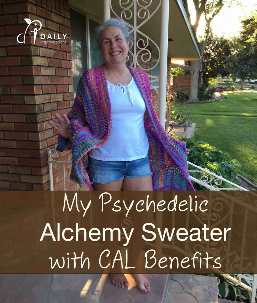 My Psychedelic Alchemy Sweater with CAL Benefits