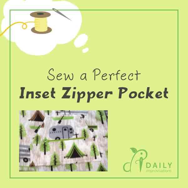 Sew a Perfect Inset Zipper Pocket