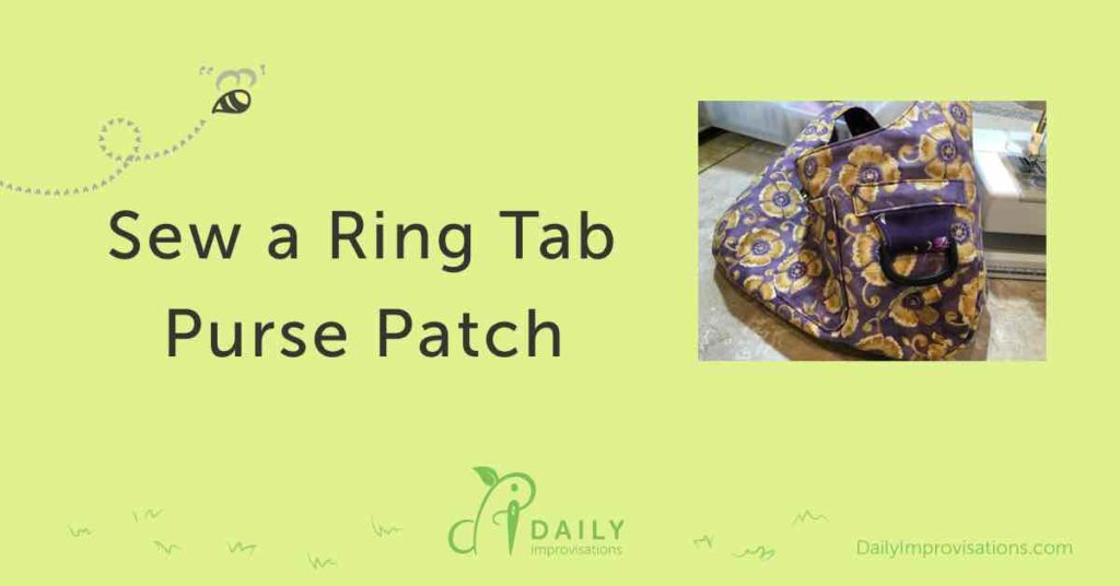 Sew a Ring Tab Purse Patch