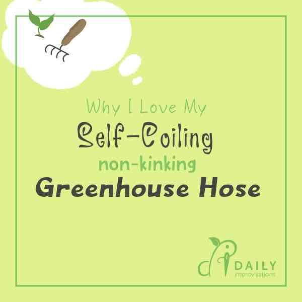 Why I Love My Self Coiling Non-Kinking Greenhouse Hose